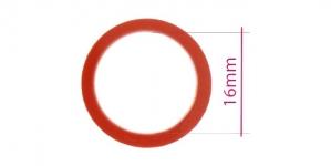 UA85, Muovirenkaat, ns bikinirenkaat tai rintaliivirenkaat, ø16mm, väri: syvä punainen