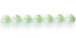 AE72 11mm Hele õunaroheline ümar läbipaistmatu plasthelmes