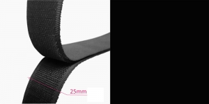Hook and Loop tape, 20 mm, 25 cm, black #08