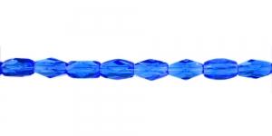 LN1142 12x7mm Koobaltsinine, läbipaistev, pikuti auguga klaashelmes