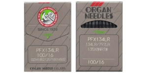 Tööstusliku õmblusmasina nahanõel, System: 134LR, 135x5 LR, SY1955 LR, DPx5 LR, ORGAN Nr.100 (= No.16) 10 tk/kompl