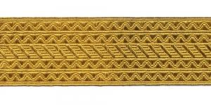 Sissekootud mustriga metallikpael Art.8031/551065, 6,5cm, kuldne