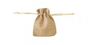Linahall, linasest kangast kinkekott, 10 x 8cm, PA43A