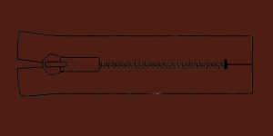 Muovihammas vetoketju Coats Opti 6mm, 26cm-32cm, umpivetoketju, väri: 8989