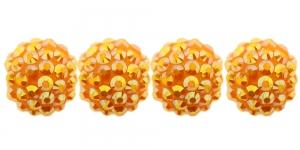 EN232Q 16mm Oranž plastikkristallidega helmes
