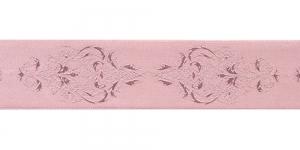 Jacquard koristenauha 38mm, Art.38969, väri rose