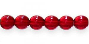 LN435 Ümar klaaspärl, Tšehhi, 12mm, Tumepunane läbipaistev