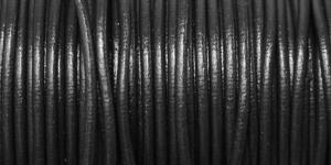 Nahkanyöri, aitoa nahkaa, ø3 mm, väri: musta, EG0048