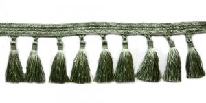 Soliidne kaunistuspael tuttidega, üldlaiusega 12cm, värv hallikas oliivroheline