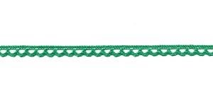 Puuvillane pits 3174-12 laiusega 0,8 cm, värv tumedam roheline