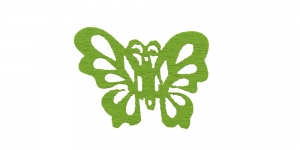 IO93A 25x22mm Liblikakujuline Roheline puitdetail