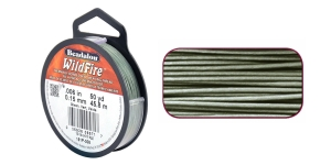 Termiliselt töödeldud tugev niit WildFire ø0,15 mm; 45,8 m, värv: hallikasroheline, Beadalon 161P-008