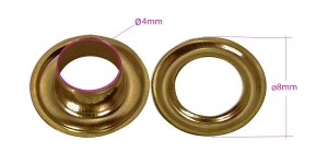 Sirkkarenkaat, messinkista, ø4 mm, 20 kpl, pinnoite: vanha messinki, KL0115