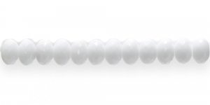 LN166 10x7mm Valge lapik, ümar klaashelmes