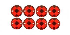 WR65 10mm Punane läbipaistev, dekoraatiivkivi, 8tk