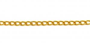 Tumedam, punakas kuldne Alumiiniumkett, 8,5 x 5 x 1,3 mm, MA36