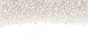 Piimjasvalged, hõbetatud, kuldse sisuga terahelmed, TOHO (Jaapan) No.11/0, värv: 2100; C-2100
