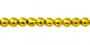 Kuldkollane ümar plasthelmes, 5mm, BJ6A