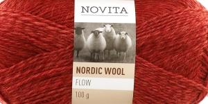 Täisvillane lõng Nordic Wool Flow, Novita, Värv 57, oranžikas-pruunikas-punakas