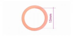 UA9, Plastrõngas nn. rinnahoidja rõngas, ø13mm, värv: hele roosa