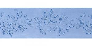 Jacquard satin ribbon, Art.64968, color No. Blue