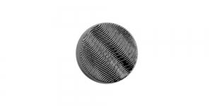 SF147A 10mm Must, reljeefse lainemustriga plastiknööp, kannaga