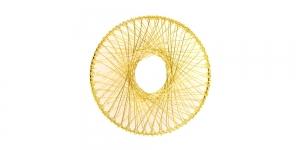 Metallist põimingdetail Kuldne, 60mm, EG10