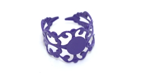 Tumelilla Sõrmusetoorik / Dark Purple Lacey Finger Ring Base / 21mm / EA7a