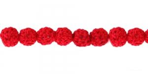 Punane heelgeldatud kattega helmes, 10mm, CB31