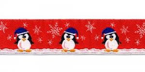 Jõulupael pingviinidega laiusega 30 mm, värv 1, PG 201B