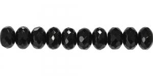 LN768 11x7mm Must läbipaistmatu ümar klaashelmes