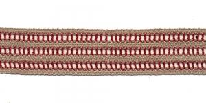 Puuvillane pits 1860-Q6 laiusega 3,5 cm, värv linabeež punasega