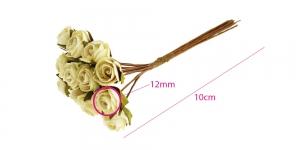 Paberlillede kimp, roosid, 12 õit, õis ø12 mm, naturaalvalged, B1971CM