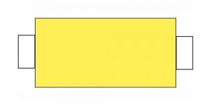 Õmblusniit, 100% PES, 366m, hele puhas kollane CA861-CA132