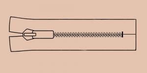 Plast hammaslukk, traktorlukk, Opti 6mm, 26cm-32cm alt kinni, värv 8454