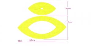 Šabloon-joonlauad vabakäe-teppimiseks, 2 tk, max 24 cm × 11,5 cm Yütien Design NARC-A