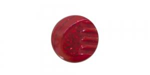 SJ114 ø12 mm Punane, hõbedase mustriga plastiknööp