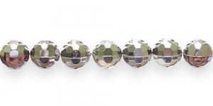 AD45 10mm Pruun 1/2 hõbe AB kattega läbipaistev akrüülhelmes