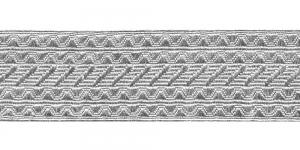 Sissekootud mustriga metallikpael Art.7575/55, 5,5cm, hõbedane