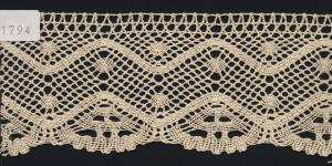 Puuvillane pits, Cotton (Crochet) Lace, 1794-58 laiusega 7cm, värv kreemjasvalge