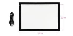Valguslaud, LED-taustvalgustus reguleeritav, A3 mõõdus 43 X 33 cm, LDP-4232