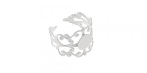 Valge / White Lacey Finger Ring Base / 21mm / EA6