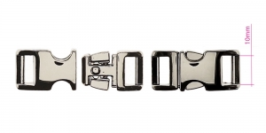 Metal buckle, 15 mm x 33 mm for belt width 10 mm, plating: gunmetal, hematite gold, PA563
