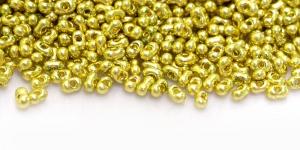 Farfalle, Sidrunikollased metallik läbipaistmatud, 2 x 4 mm, HR78A