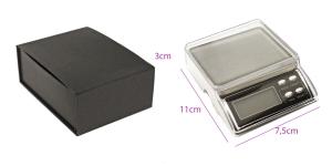 Väike digitaalne lauakaal kaalumis-valamiskausiga, 11 x 7,5 x 3 cm, kuni 500 g; -/+ 0,1 g, KL1705, TV13