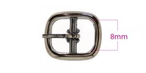 Metallpannal 15x17 mm rihmale laiusega 7-8 mm, pinnatud: must nikkel, SHB206