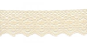 Puuvillane servapits 1424-58 laiusega 6,5cm, Värv: Kreemjas