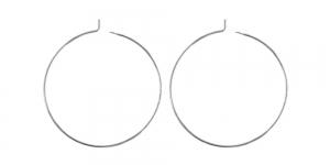Kõrvarõnga toorik, ring Hõbedased 2tk, EC97 35mm