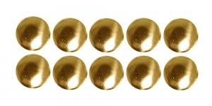 6mm Kuldne, ümar triigitav dekoraatiivkivi, 10tk WR83