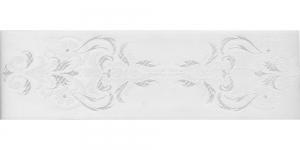 Luksuslik atlaspael sissekootud lillemustriga laiusega 64mm, Art.64969, Valge